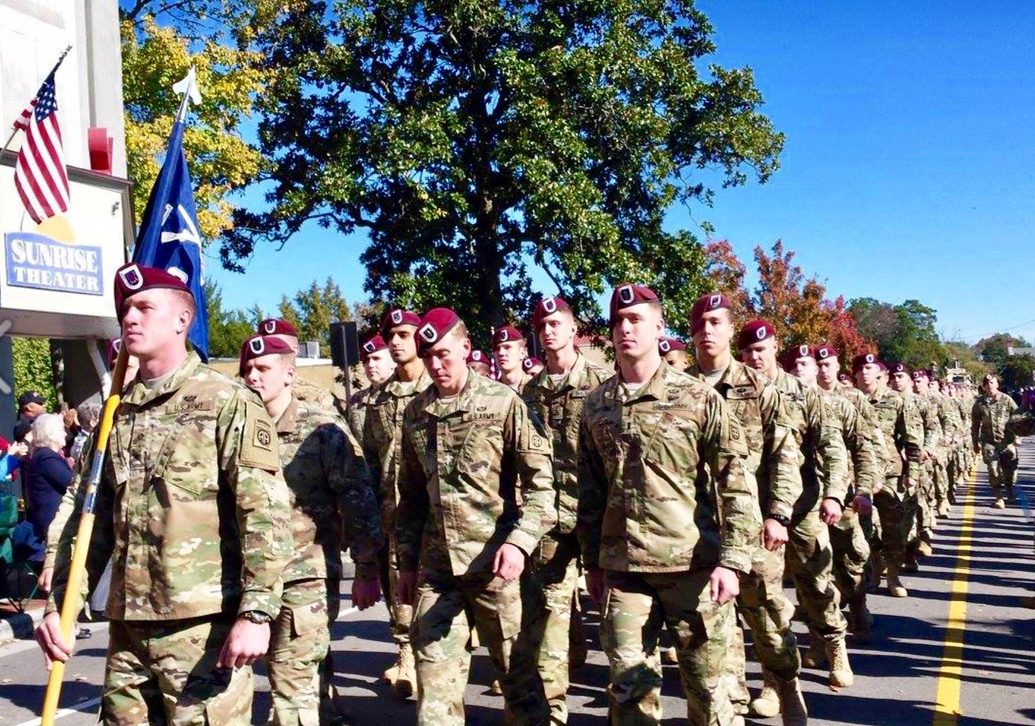 2016 Veterans Parade - 82nd Airborne 1-508 C-Co and 1-307 D-Co